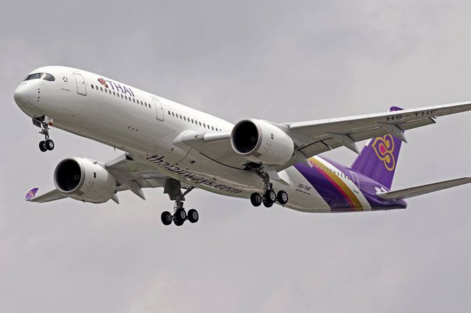 thai airways landing