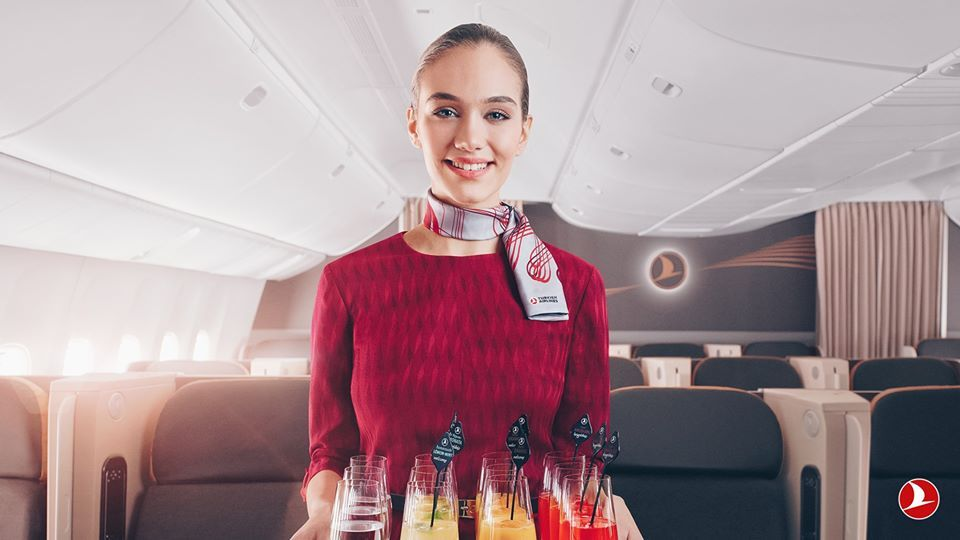Turkish Airlines In-flight welcome