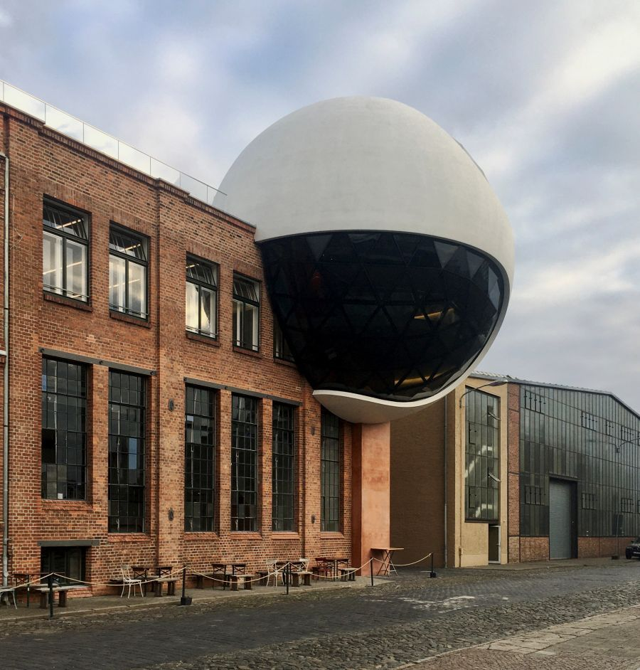Niemeyer Sphere was officially inaugurated in Leipzig-Plagwitz