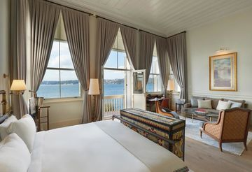 New Six Senses hotel in Istanbul room with Bosphorus view